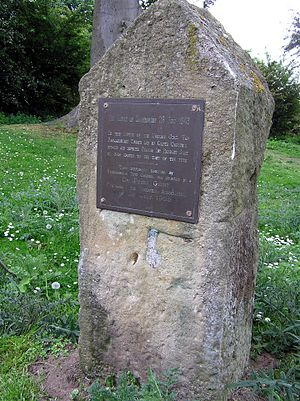 Battle of Gainsborough - Image: Battlefield Monument at Foxby Hill, Gainsborough