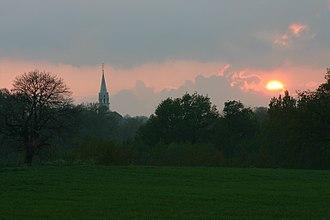 Beaulieu-sous-la-Roche - A view towards the church of Saint-Jean-Baptiste, in Beaulieu-sous-la-Roche