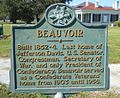 Beauvoir Historical Marker.jpg