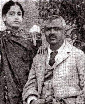Begum Rokeya - Rokeya with her husband, Sakhawat Hussain (1898)