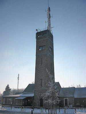 Signal de Botrange - Communication tower on the Signal de Botrange