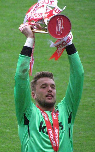 Ben Hamer - Hamer celebrating winning the League One title with Charlton Athletic in 2012