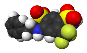 Bendroflumethiazide - Image: Bendroflumethiazide 3D vd W