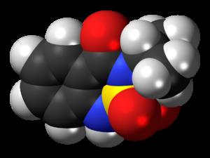 Bentazon - Image: Bentazone 3D spacefill