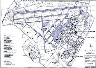 Bergstrom Air Force Base - Bergstrom Air Force Base blueprint, 1957