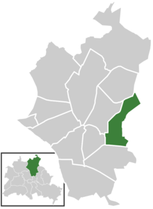 Ligging van Stadtrandsiedlung Malchow in het district Pankow