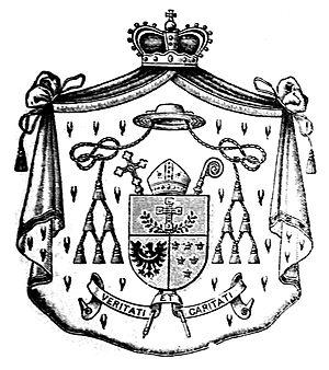 Adolf Bertram - Cardinal Bertram's coat of arms as Prince-Bishop.