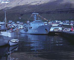 EML Admiral Pitka (A230) - Beskytteren in Klaksvik, Faroe Islands