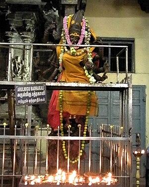 Bhadrakali - Murti of Bhadrakali in Madurai Meenakshi Temple