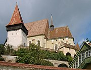Biertan church with protecting walls