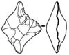 Biface losangique
