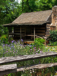 Historic Big Holly Cabin at the Mauldin House in Clarkesville, Georgia