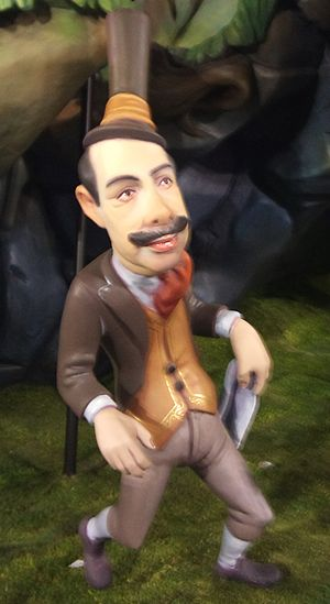 Gürtel case - Caricature of El Bigotes (the mustache) Álvaro Pérez, one of those implicated in the case.