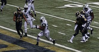 Bilal Powell - Powell running against the St. Louis Rams in 2012