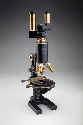 Microscope - Carl Zeiss binocular compound microscope, 1914