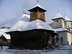 Saint Nicholas Wooden Church in Broșteni