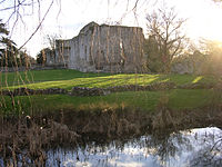 Bishop's Waltham Palace and moat.jpg
