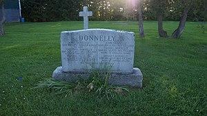 Black Donnellys - New Gravestone in St. Patrick's Cemetery