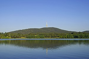 Black Mountain and viewed from in Canberra.