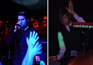 Blaqk Audio - Blaqk Audio performing live in 2007. From left to right: Davey Havok and Jade Puget.