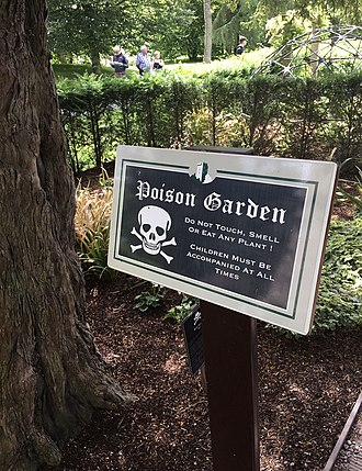 Blarney Castle - Image: Blarney Castle Poison Garden Sign
