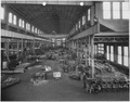 Bldg. 66 - Interior, looking east showing installation of Joiner Shop machinery. - NARA - 299596.tif
