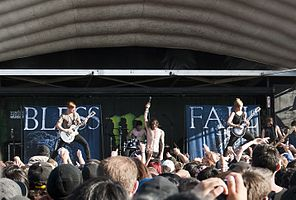 Blessthefall live at Warped Tour 2012