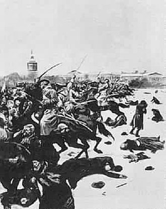 Bloody Sunday (1905) - Soviet painting of the Bloody Sunday massacre in St Petersburg
