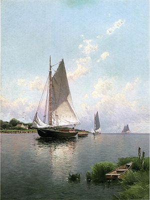Blue Point, New York - Blue Point, Long Island, by Alfred Thompson Bricher - 1888