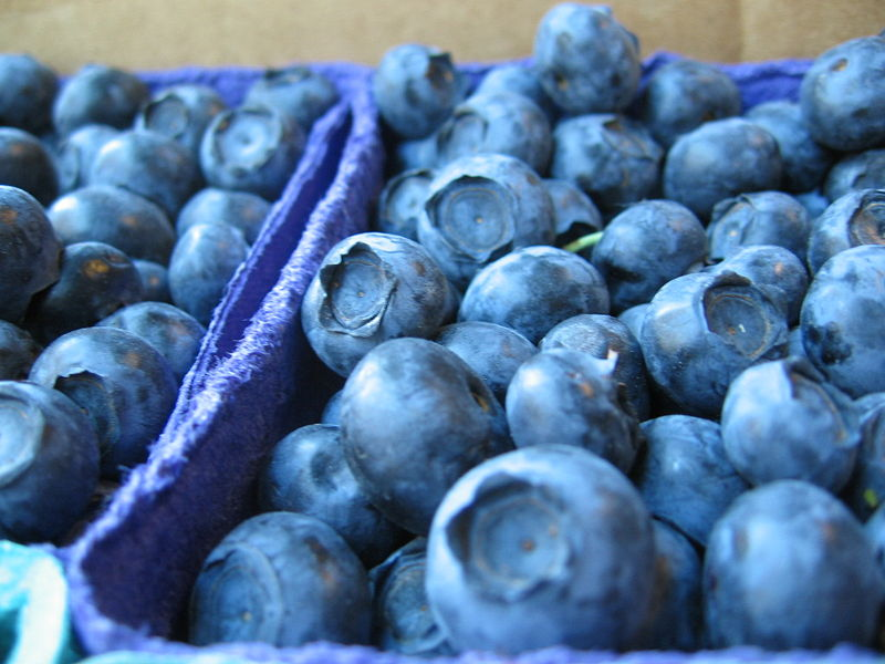 File:Blueberries in market, close-up.jpg