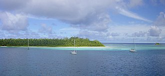 Salomon Islands - Boddam Island and small Ile Diable to the right.