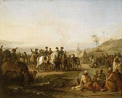 Jean Simon Berthélemy: Bonaparte visitant les fontaines de Moïse en décembre 1798