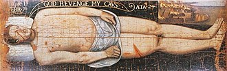 """James Stewart, 2nd Earl of Moray - The Bonnie Earl of Moray, the anonymous """"vendetta portrait"""" of the murdered earl, 1592"""