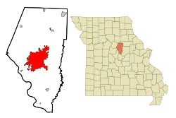 Boone County Missouri Incorporated and Unincorporated areas Columbia Highlighted.svg