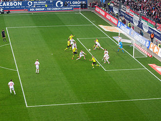 FC Augsburg - FC Augsburg against Borussia Dortmund in the Bundesliga in November 2012.