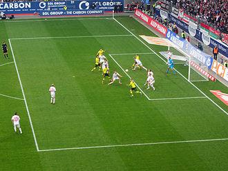 FC Augsburg - FC Augsburg against Borussia Dortmund in the Bundesliga in November 2012.