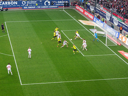 FC Augsburg against Borussia Dortmund in the Bundesliga at the SGL arena in November 2012. Borussia dortmund augsburg.jpg