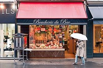Butcher - Boucherie du Bac, 82 Rue du Bac, Paris.