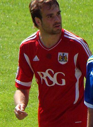 Brett Pitman - Pitman playing for Bristol City in 2011