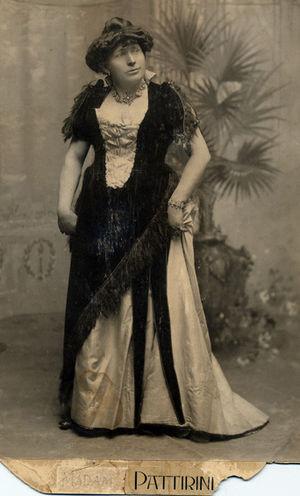 B. Morris Young - B. Morris Young dressed up as Madam Pattirini.