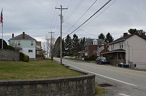 Braddock Hills, Pennsylvania - Scene along Brinton Road