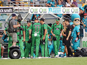 Melbourne Stars - Melbourne Stars squad at the Gabba, Brisbane (2014)