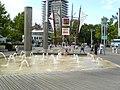Bristol City Centre, water fountains, 2006.jpg