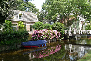 Canal - Canal in Broek in Waterland, Netherlands.