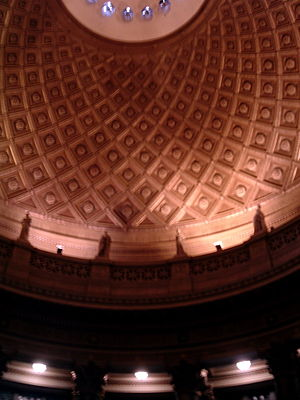 Bronx Community College - The interior of the Gould Memorial Library, designed by Stanford White