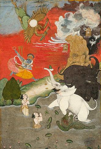 Gajendra Moksha - Vishnu Saving Gajendra