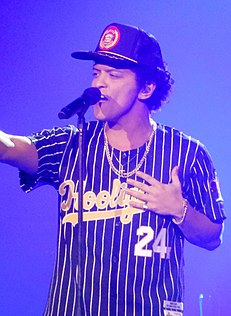 Bruno Mars American singer and songwriter