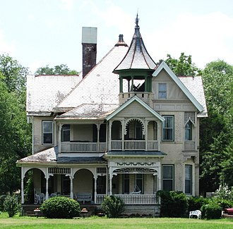 George Franklin Barber - The Queen Anne-style I.W.P. Buchanan House in Lebanon, Tennessee