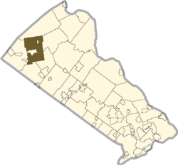 Location of Richland Township in Bucks County