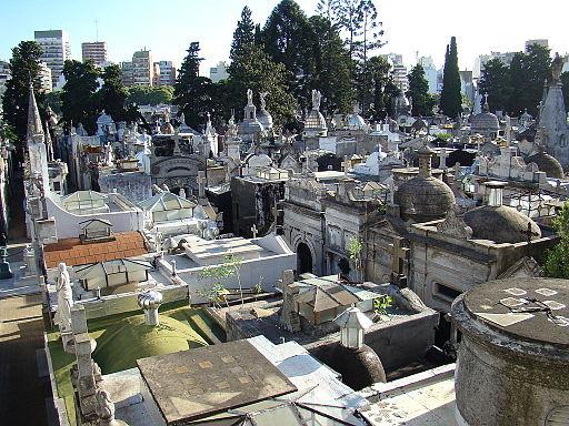 Buenos Aires iglesia del Pilar Vista cementerio Recoleta lou